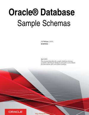 Oracle Database Sample Schemas