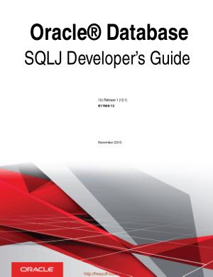 Oracle Database Sqlj Developer Guide