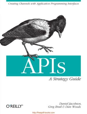 APIs A Strategy Guide, Pdf Free Download