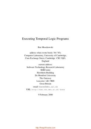 Executing Temporal Logic Programs