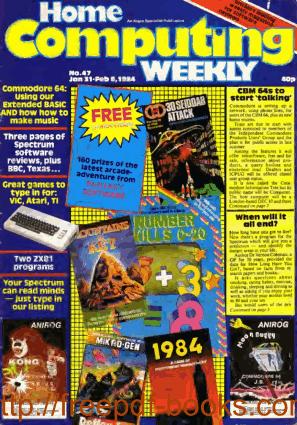 Free Download PDF Books, Home Computing Weekly Technology Magazine 047