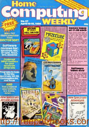 Home Computing Weekly Technology Magazine 057