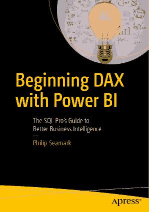 Beginning Dax With Power Bi Book 2018 Year