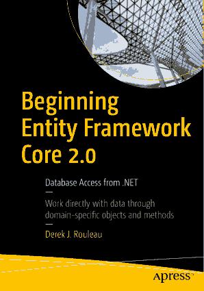 Beginning Entity Framework Core 2.0 Book 2018 Year