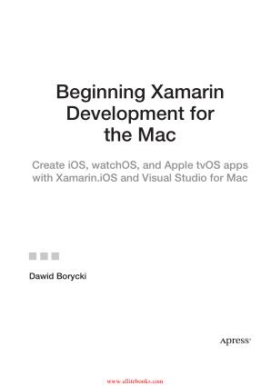 Beginning Xamarin Development for the Mac Book 2018 year