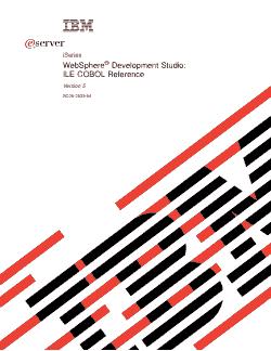 ILE COBOL Language Reference PDF