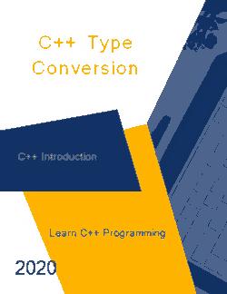 Free Download PDF Books, C++ Type Conversion _ C++ Introduction