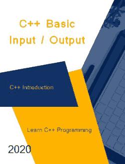 Free Download PDF Books, C++ Basic InputOutput _ C++ Introduction