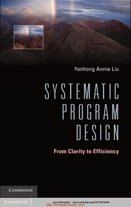 Systematic Program Design Book TOC – Free Books Download PDF