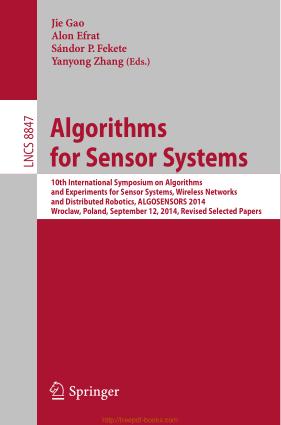 Algorithms for Sensor Systems, Pdf Free Download