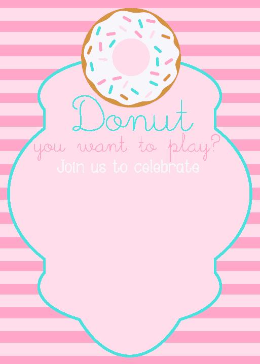 Free Download PDF Books, Donut Birthday Party Invitation Template Word   PDF