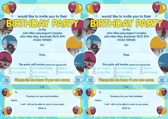 Free Download PDF Books, Park Birthday Party Invitation Template Word | PDF