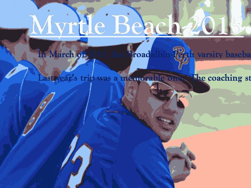 Free Download PDF Books, Myrtle Beach 2015 Baseball Powerpoint Presentation Template PPT