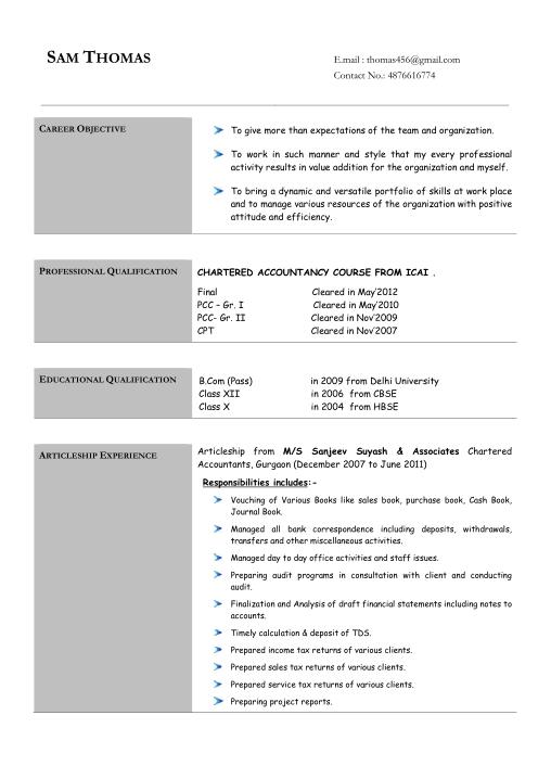 Free Download PDF Books, Free Accountant Resume Template Word | PDF