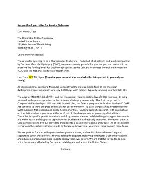 Free Download PDF Books, Free Thank You Letter to Senator, Templates Word/Pdf