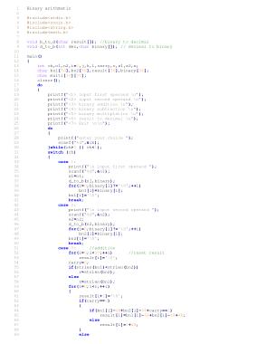 Free Download PDF Books, Binary Arithmatic | C++ Algorithms Example