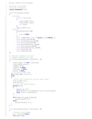 Free Download PDF Books, Binary Search Tree Program | C++ Algorithms Example