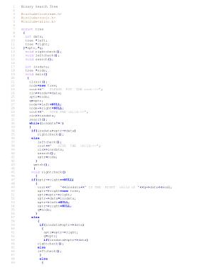 Free Download PDF Books, Binary Search Tree | C++ Algorithms Example