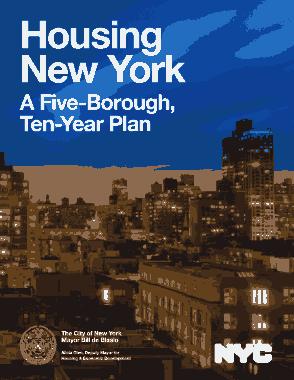 Housing New York A Five Borough Ten Year Plan