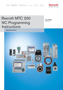 Free Download PDF Books, Rexroth MTC 200 NC Programming Instructions