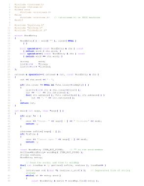 Free Download PDF Books, Concordance Program Not Using STL – C++ Algorithm Analysis Code