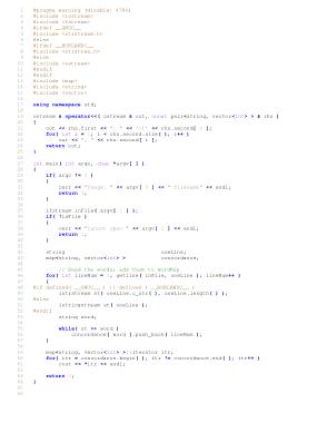 Free Download PDF Books, Concordance Program Using STL – C++ Algorithm Analysis Code