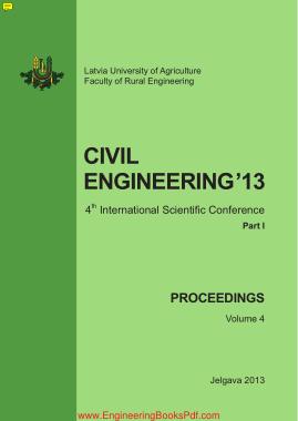 Free Download PDF Books, Civil Engineering 13 4th International Scientific Conference