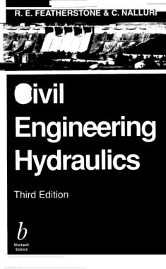 Free Download PDF Books, Civil Engineering Hydraulics 3rd Edition
