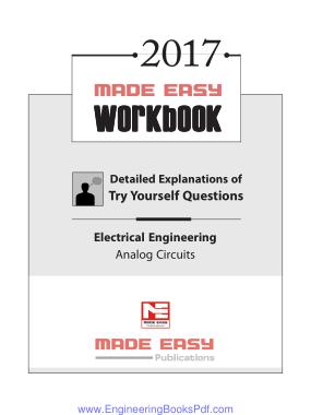 Free Download PDF Books, Electrical Engineering Analog Circuits 2017