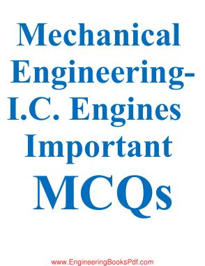 Mechanical Engineering I.C. Engines Important MCQs