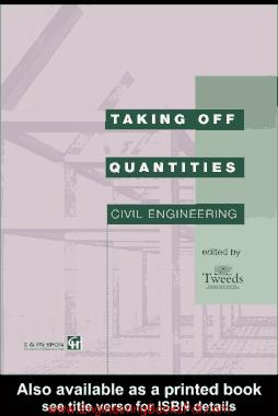 Taking Off Quantities Civil Engineering