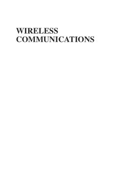 Wireless Communications Algorithmic Techniques
