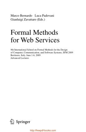 Formal Methods for Web Services