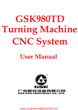 Free Download PDF Books, GSK980TD Turning Machine CNC System User Manual