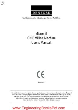 Free Download PDF Books, Micromill CNC Milling Machine