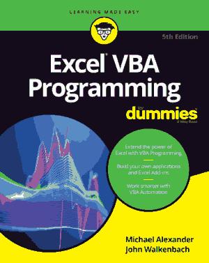 Excel VBA Programming 5th Edition