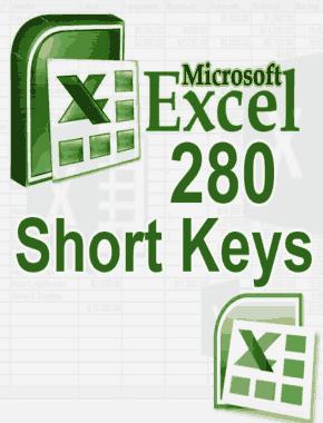 MS Excel 280 Short keys Guide Book