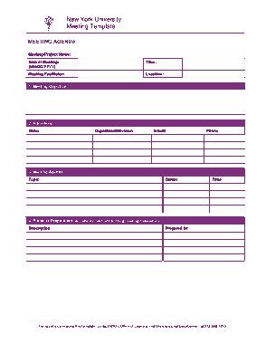 Meeting Agenda Minutes Template