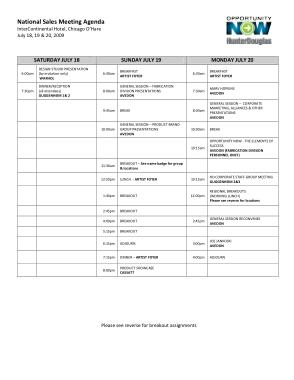 Sales Meeting Agenda Format Template