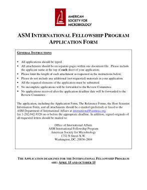 Fellowship Program Application Form Template