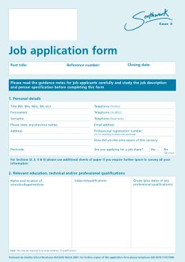 Free Download PDF Books, It Job Application Form Template