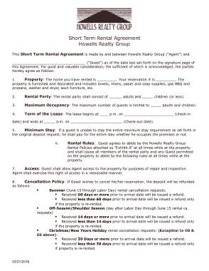 Free Download PDF Books, Short Term Rental Agreement Template