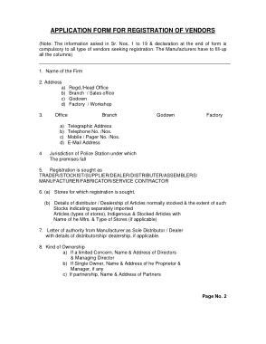Free Download PDF Books, Vendor Application Registration Agreement Form Template