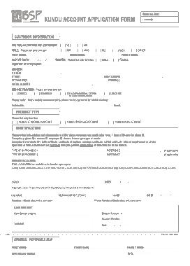 KINDU Accounting Application Form Template