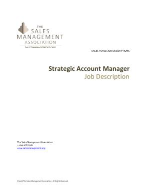 Strategic Account Manager Job Description Template