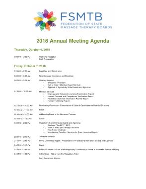 Annual Meeting Agenda