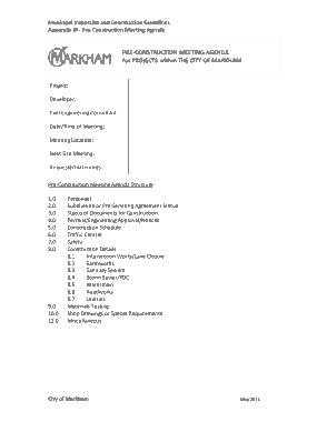 Consultant Meeting Agenda Sample