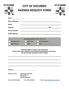 Council Agenda Request Form