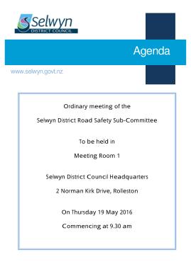 Free Download PDF Books, Road Safety Meeting Agenda