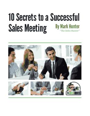 Sales Meeting Agenda Form
